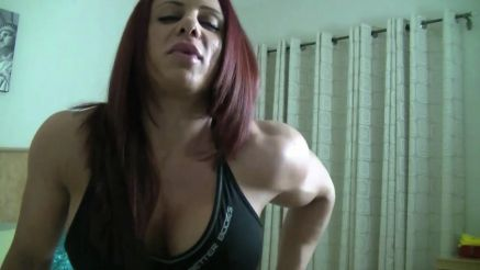Mz Devious hot and busty female bodybuilder video