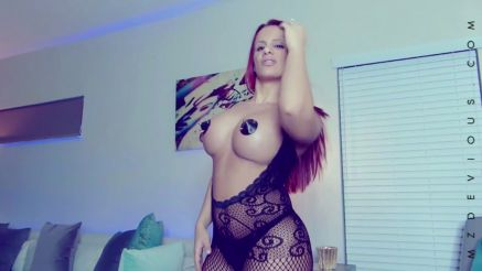 Mz Devious hot pasties in lingerie