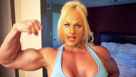 female bodybuilder Nuriye Evans tells us her sexual fantasy