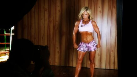 sexy muscle milf fitness photo shoot