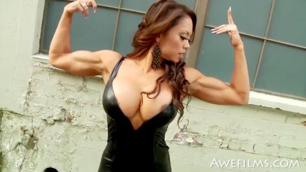 fitness girl with massive tits