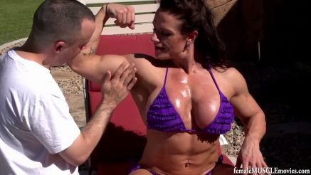 muscle worship female bodybuilder big biceps