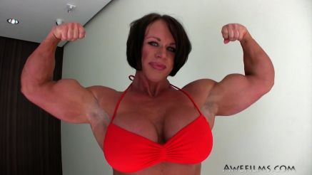 massive biceps female bodybuilder aleesha young