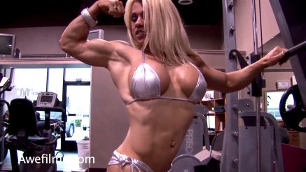 muscle girl fantasy melissa dettwiller flexing big bicep