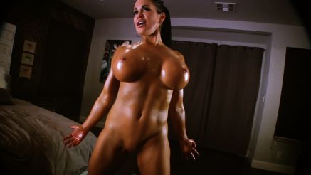 fit porn star naked covered in oil