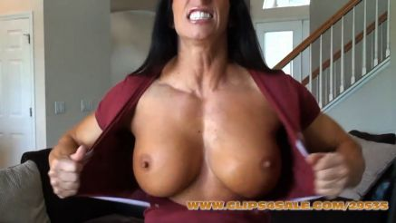 massive fbb angela salvango tearing off her shirt