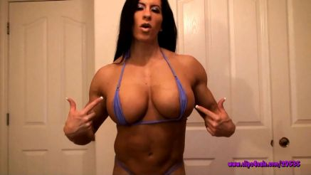 huge female bodybuilder angela salvagno sexy muscle body