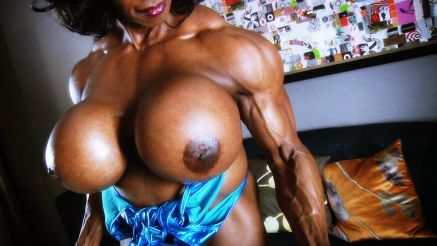 Yvette Bova strong vascular arms and huge fake tits