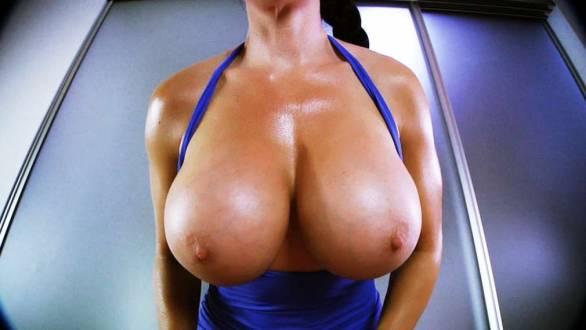 fitness model huge 1100cc big tits breast expansion