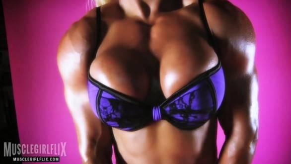 fbb buffed up muscular girl topless