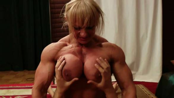femdom Maryse Manios huge ripped naked muscle