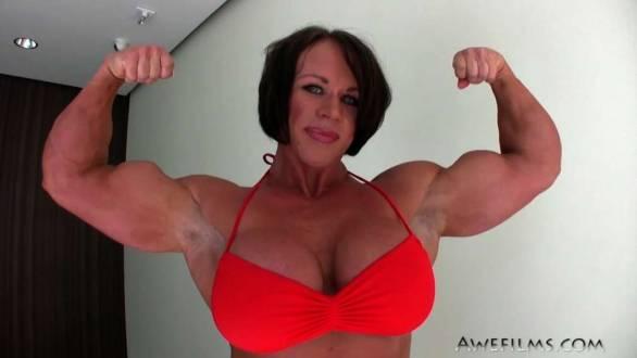 massive biceps female bodybuilder aleesha young