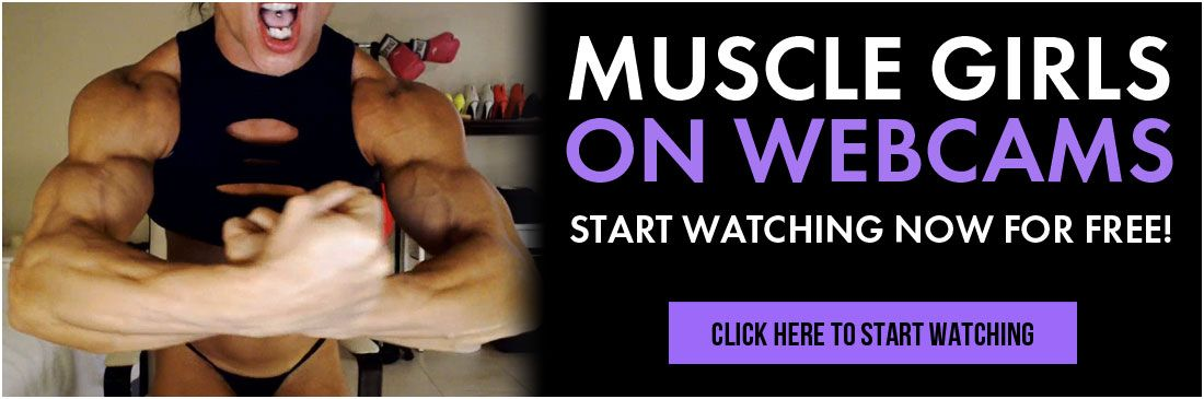 Muscle girls on webcam banner