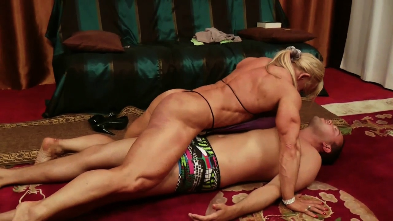 Women wrestling men domination