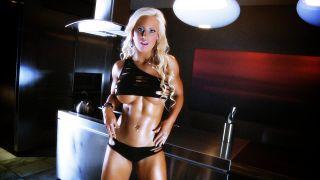 Megan Avalon hot muscle girl shot.