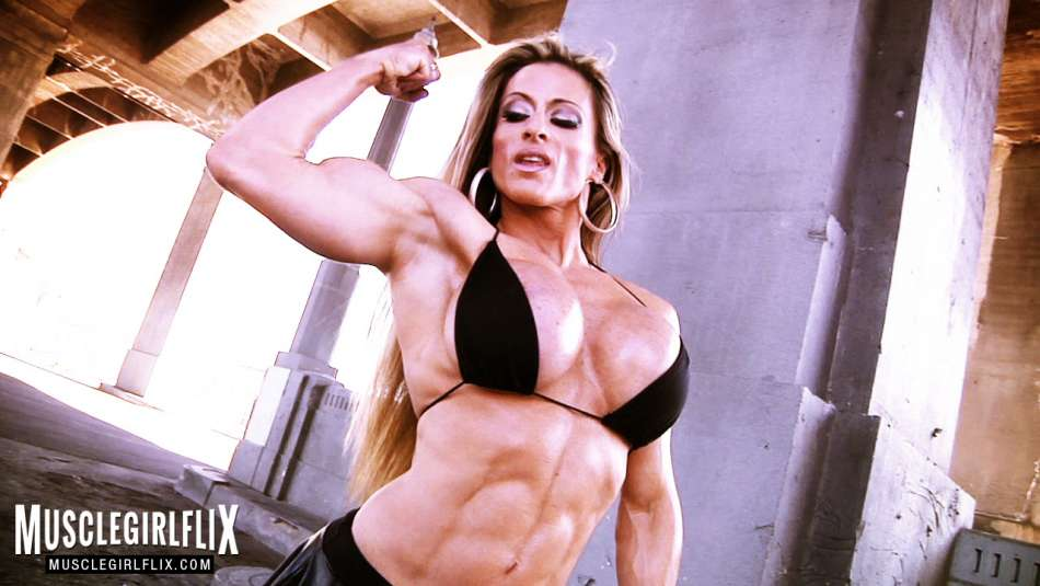 Maria Garcia amazing bicep muscle