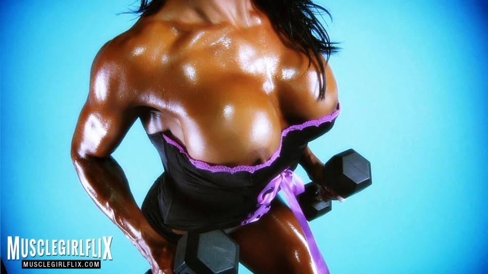 Jennifer Love hot oily female muscle