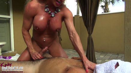 image Muscle girl handjob xxx after delivering