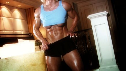 Brigita Brezovac thick arms and abs.