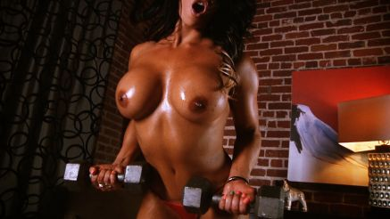 Jennifer Love topless fitness model topless workout