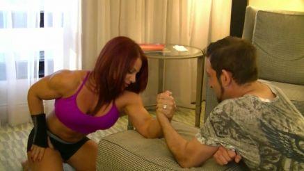 Mz Devious weak arm wrestle